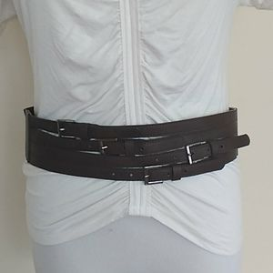 The Limited multi buckle wide strap stretchy belt